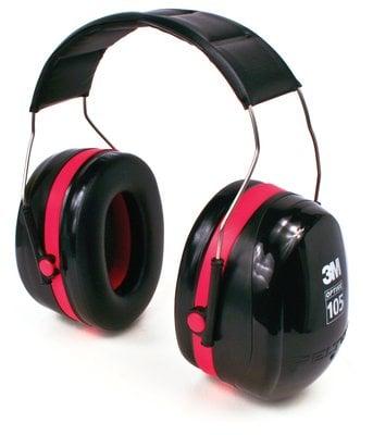 3M™ PELTOR™ Optime™ 105 Earmuffs H10A, Over-the-Head, angle