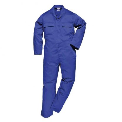 Portwest S999 Euro Work Polycotton Coverall, Royal Blue, Tall, Front