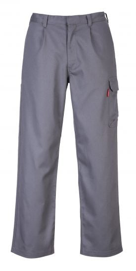 Portwest BZ31 FR Cargo Pants, Gray, Front