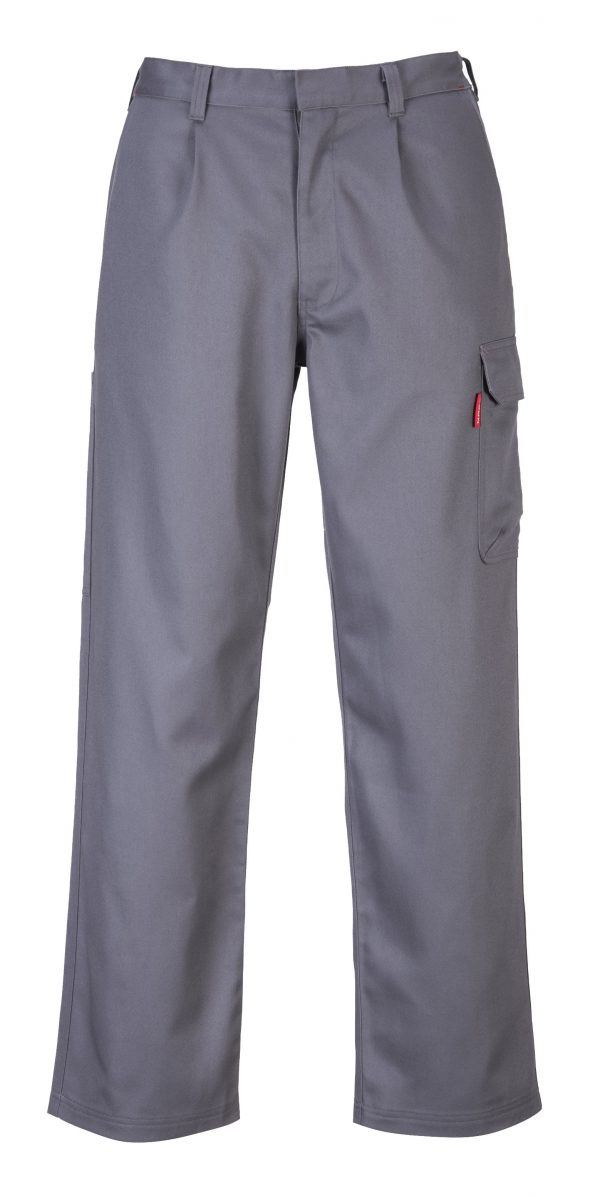 Portwest BZ31 FR Cargo Pants, Gray, Front