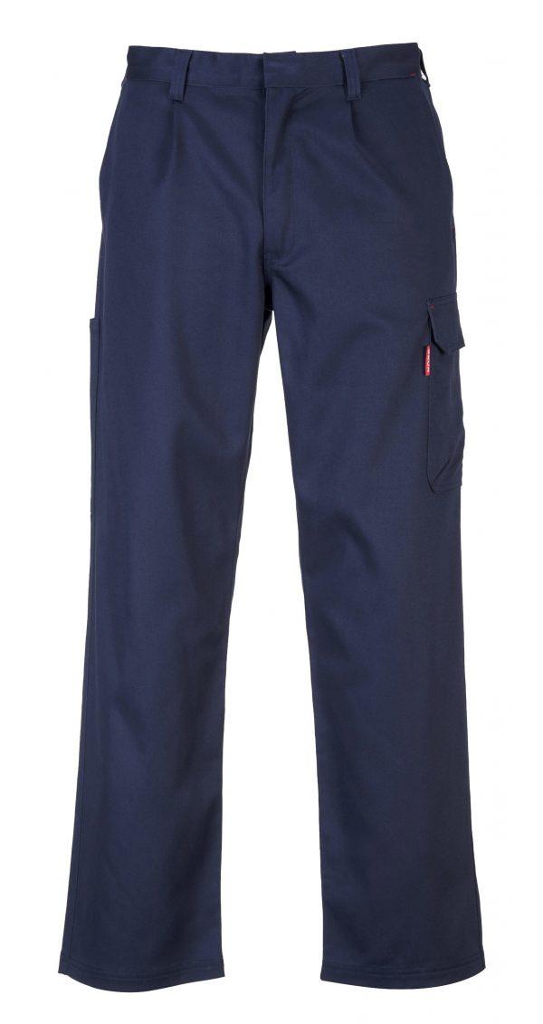 Portwest BZ31 FR Cargo Pants, Navy, Front