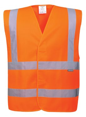 Portwest C470 ANSI 107 Type R Class 2 High Visibility Safety Vest, Orange