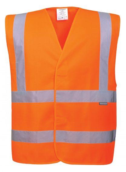 Portwest C470 ANSI 107 Type R Class 2 High Visibility Safety Vest, Orange