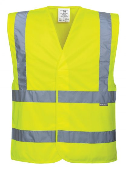 Portwest C470 ANSI 107 Type R Class 2 High Visibility Safety Vest, Yellow