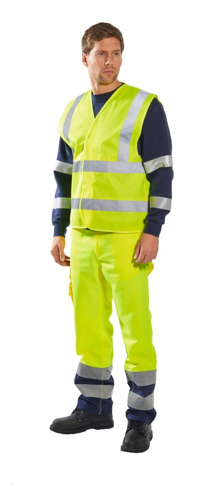 Portwest C470 ANSI 107 Type R Class 2 High Visibility Safety Vest, Orange, Yellow 1