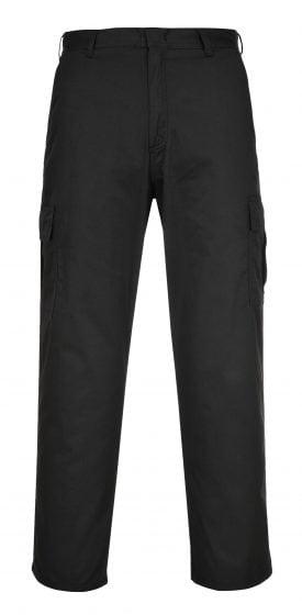 Portwest C701 Cargo Pants, Black, Front