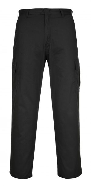 Portwest C701 Cargo Pants, Black, Front