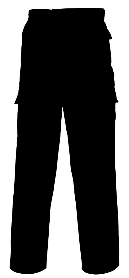 Portwest C701 Cargo Pants, Black, rear