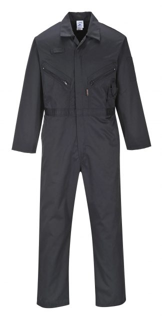 Portwest LIVERPOOL ZIPPER COVERALL - C813, Black