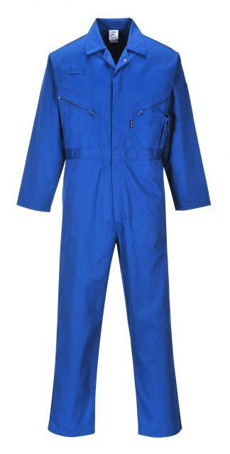Portwest C813 Liverpool Zipper Coverall, Royal Blue