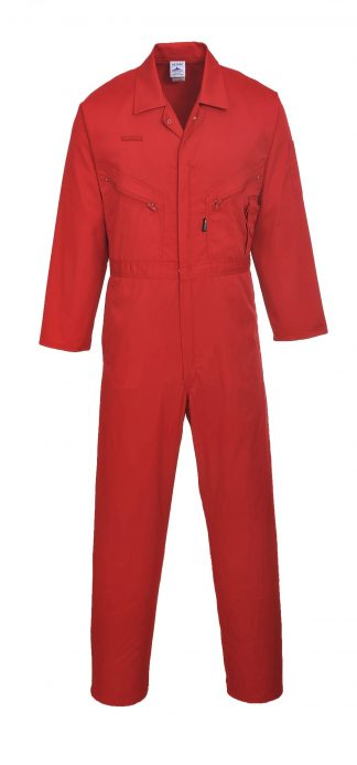 Portwest C813 Liverpool Zipper Coverall, Red
