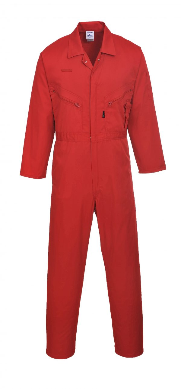 Portwest LIVERPOOL ZIPPER COVERALL - C813, Red