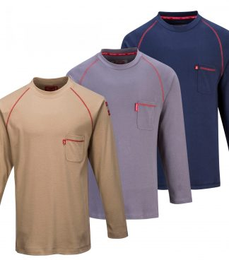 Portwest FR01 Bizflame Fire Resistant Crew Neck, all colors