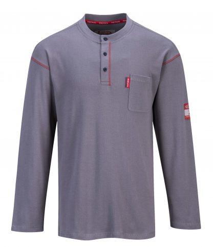FR02 Bizflame Fire Resistant Button Down Work Shirt, Gray