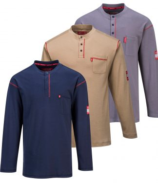 Portwest FR02 Bizflame Fire Resistant Henley, all colors