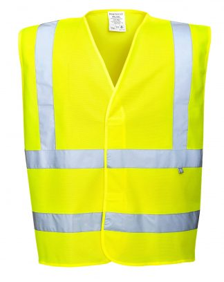 Iwantworkwear Portwest FR75 Hi-vis FR Safety Vest, Yellow, Front