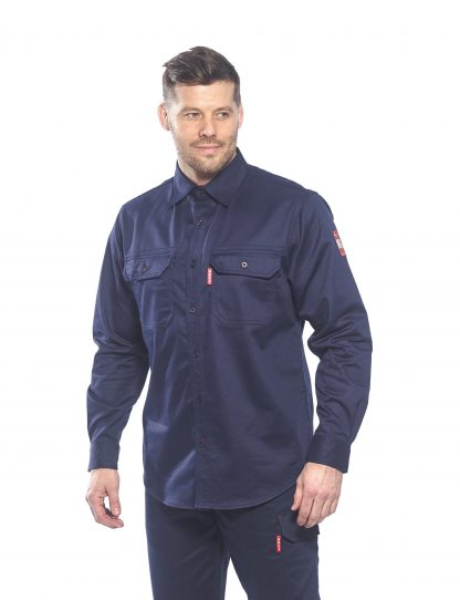 BIZFLAME 88/12 FR SHIRT - FR89, Navy, Front, Onbody