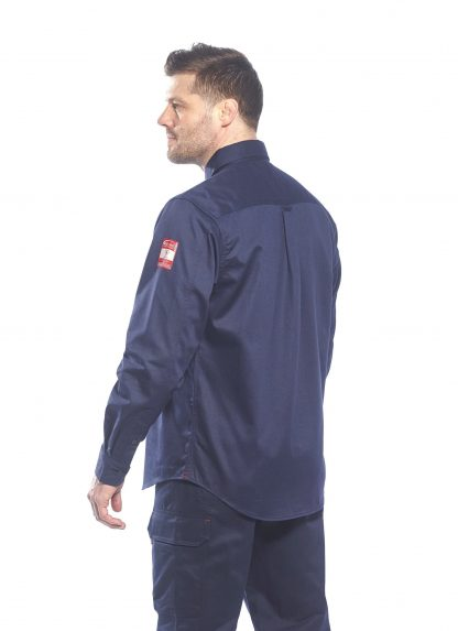 BIZFLAME 88/12 FR SHIRT - FR89, Navy, Back, Onbody
