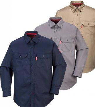 Bizflame Fire Resistant Cargo Shirt - Portwest FR89, all colors