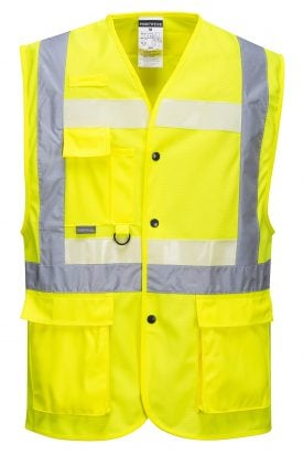 Portwest G4786 Glowtex 3-in-1 High Visibility Safety Vest, ANSI Type R Class 2, front