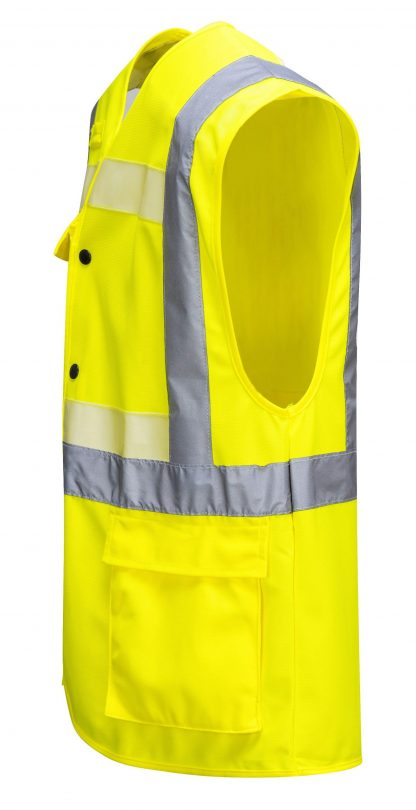Portwest G4786 Glowtex 3-in-1 High Visibility Safety Vest, ANSI Type R Class 2, side