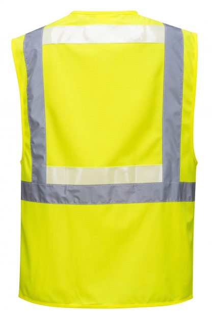 Portwest G4786 Glowtex 3-in-1 High Visibility Safety Vest, ANSI Type R Class 2, rear