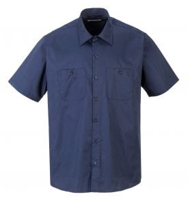 Portwest S124 Industrial Work Polo, Navy Front