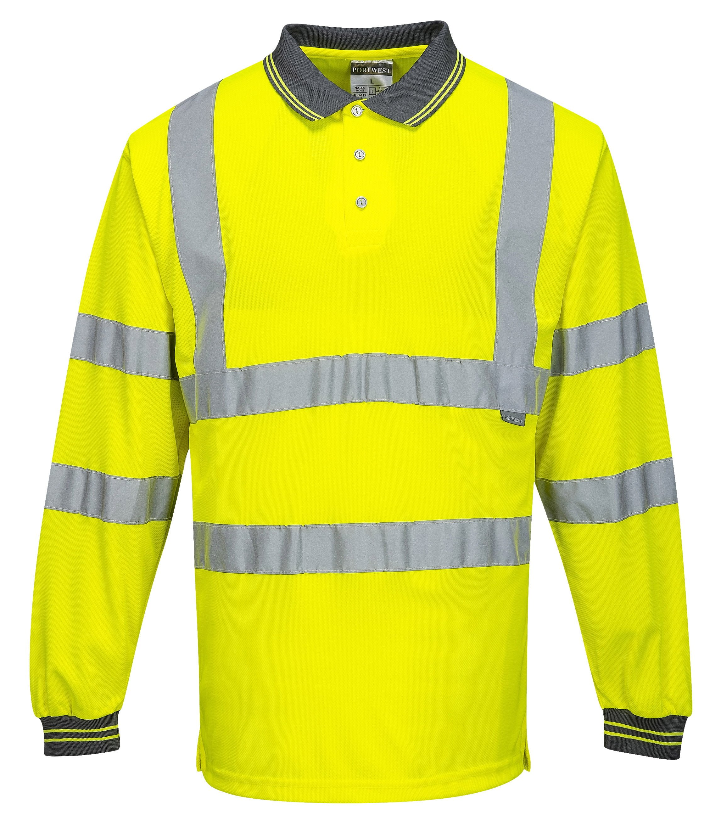 Portwest S277 High Visibility Long Sleeve Safety Polo ac394d82c16b