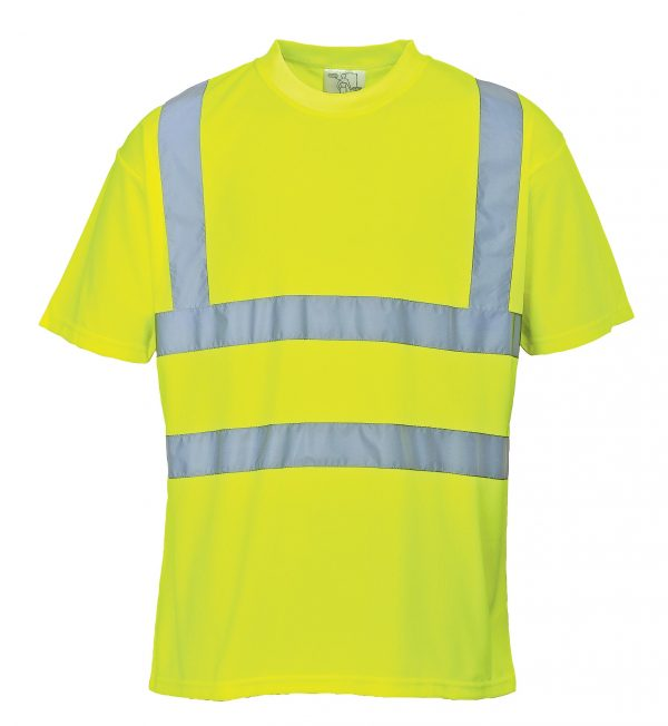 Portwest US478 High Visibility T-shirt, Yellow, Front