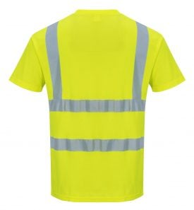 Portwest US478 High Visibility T-shirt, Yellow, Rear