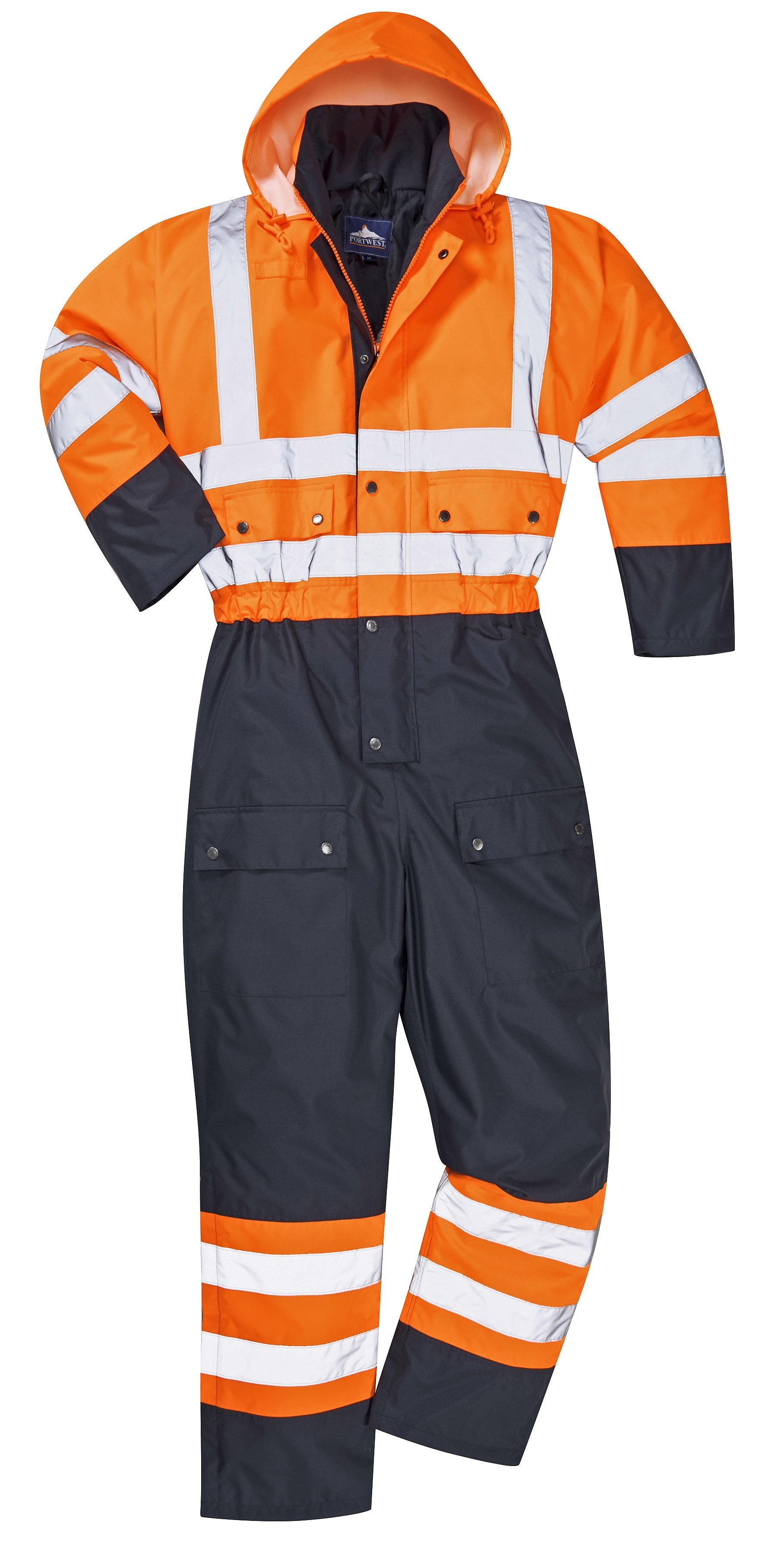 807159bd1815 Portwest S485 High Visibility Contrast Coverall Snow Suit