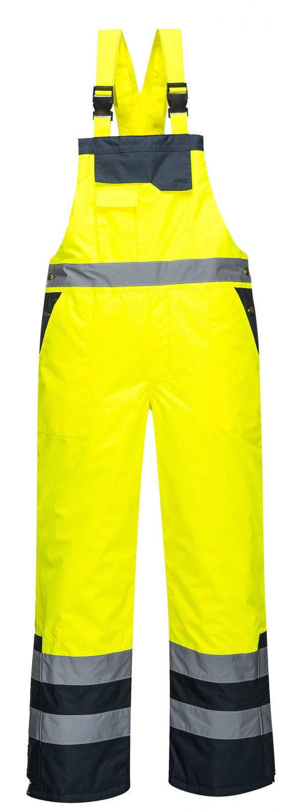 Portwest S489 Thermal Lined High Visibility Snow Bib, Back
