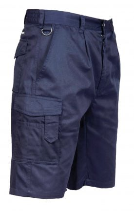 Portwest S790 Cargo Shorts w/ D-ring, blue, side