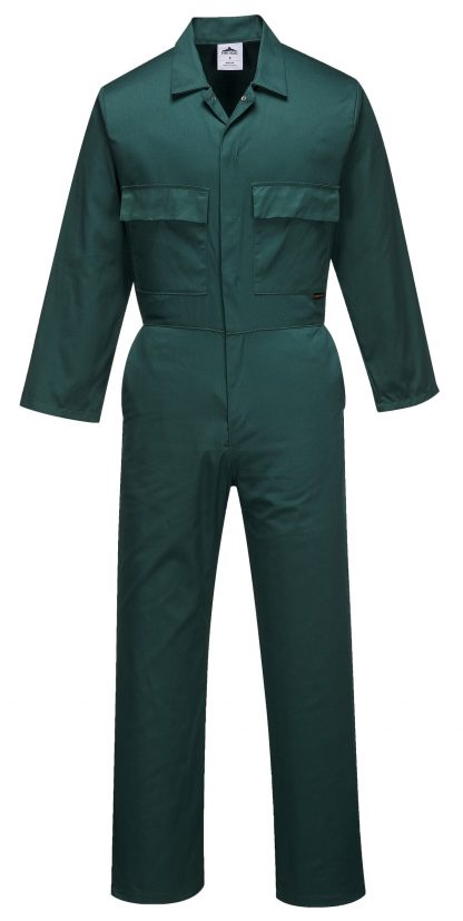 Portwest S999 Euro Work Polycotton Coverall, Green, Tall, Front