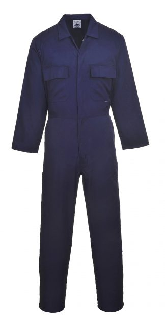 Portwest S999 Euro Work Polycotton Coverall, Navy, Regular
