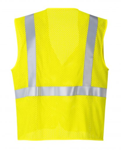 Portwest UMV21 Arc Rated Fire Resistant Mesh Safety Vest, Yellow Front Rear