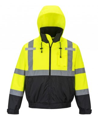 Portwest HI-VIS PREMIUM 2-IN-1 BOMBER - US364, iwantworkwear, front