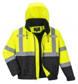 Portwest HI-VIS PREMIUM 2-IN-1 BOMBER - US364, iwantworkwear, front 3