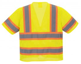Portwest US383 ANSI Type R Class 3 High Visibility Safety Vest, Yellow, Rear