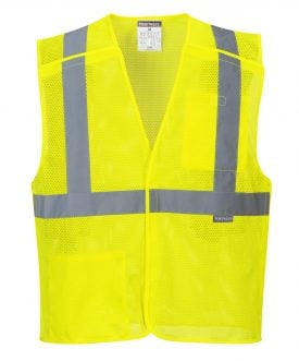 Portwest US384 ANSI Class 2 Economy Breakaway Safety Vest, Yellow 2
