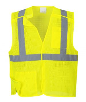 Portwest US384 ANSI Class 2 Economy Breakaway Safety Vest, Yellow