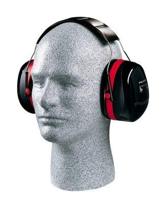 3M™ PELTOR™ Optime™ 105 Earmuffs H10A, Over-the-Head, on dummy
