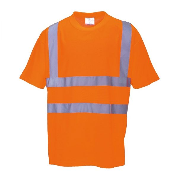 Portwest US478 High Visibility T-shirt, Orange, Front