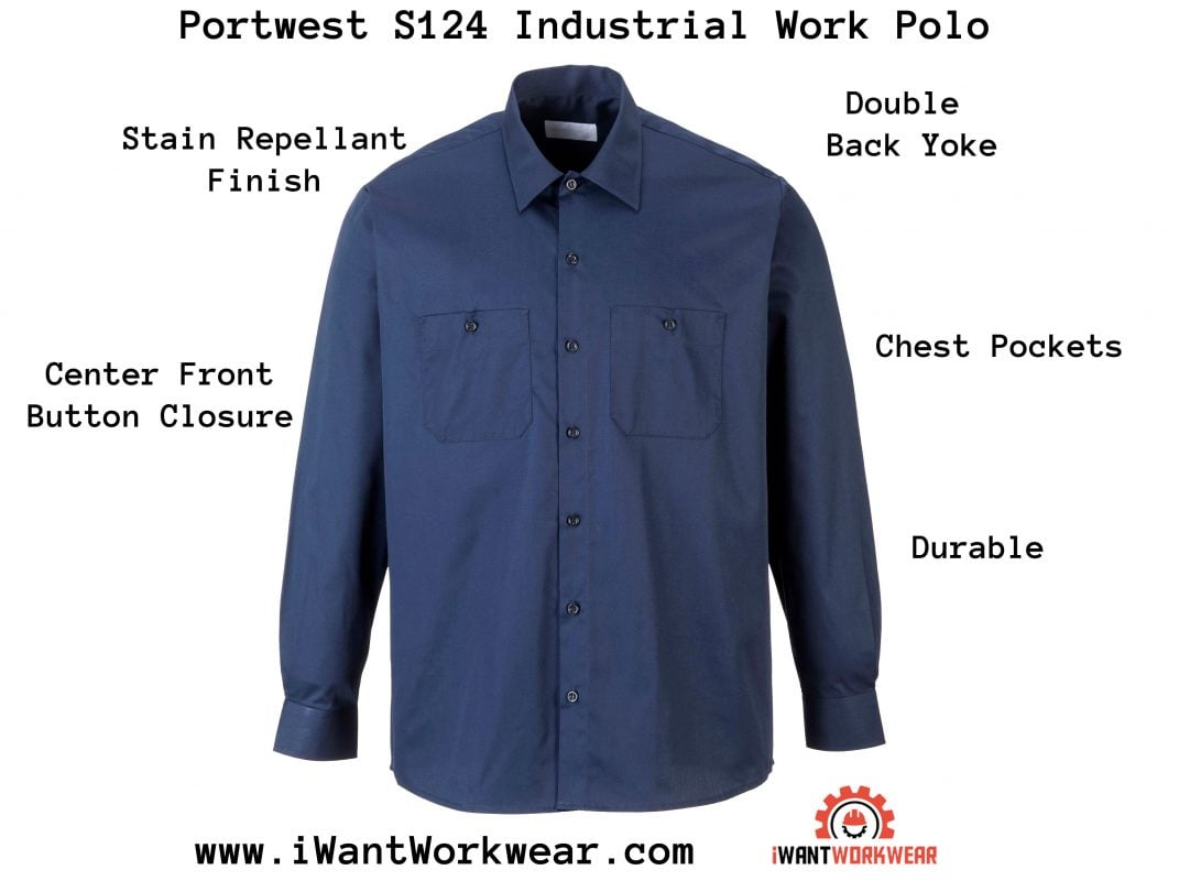 Portwest S125 Industrial Work Polo, iwantworkwear Infographic