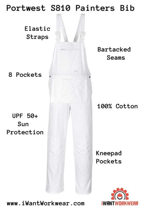 S810 Bolton Painters Overalls , iWantWorkwear Infographic