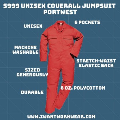 iwantworkwear s999 unisex coverall portwest,