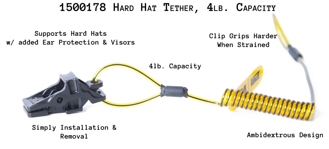 1500178 Hard Hat Tether, 4lb. Capacity
