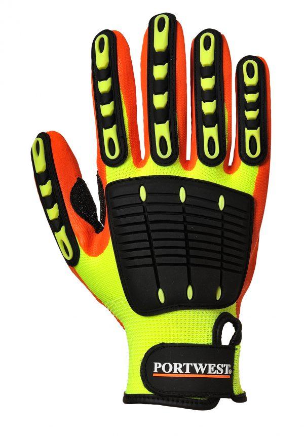 Portwest A721 Anti-impact gripper gloves, nitrile