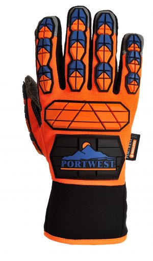 portweast A726 anti-impact tpr work gloves, back