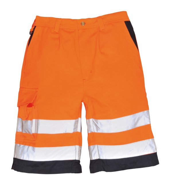 Portwest ANSI Class E High Visibility Shorts, Orange 3